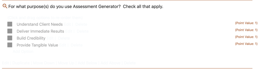 Option Question with 4 Options