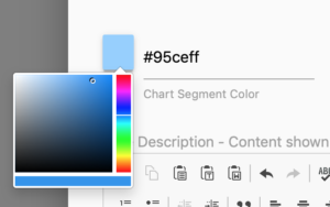 Set Chart Segment Color with Color Box